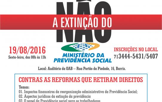 CARD SEMINARIO CONTRA A REFORMA DA PREVIDENCIA