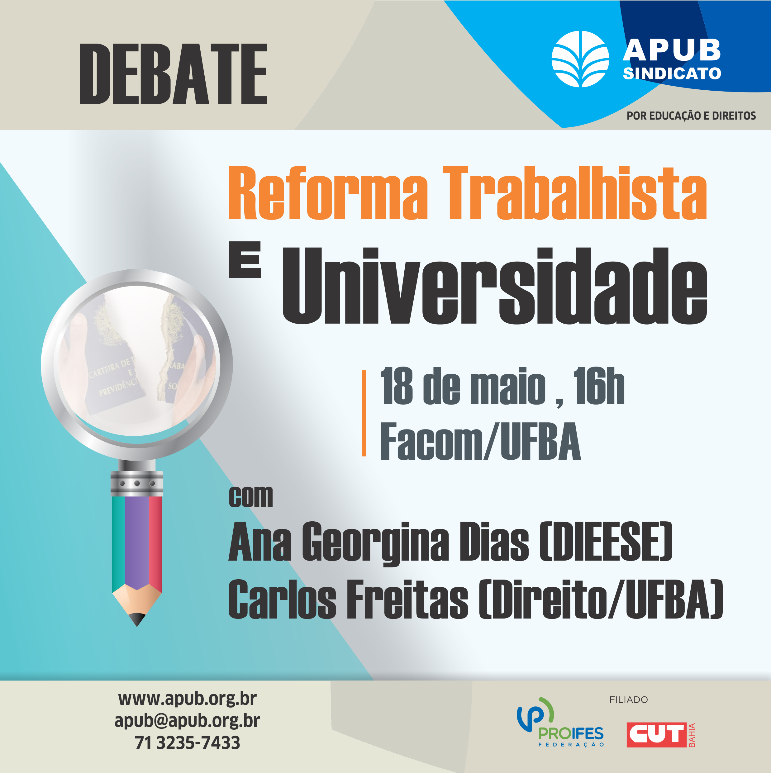 E-CARD DEBATE REFORMA TRABALHISTA E UNIVERSIDADE