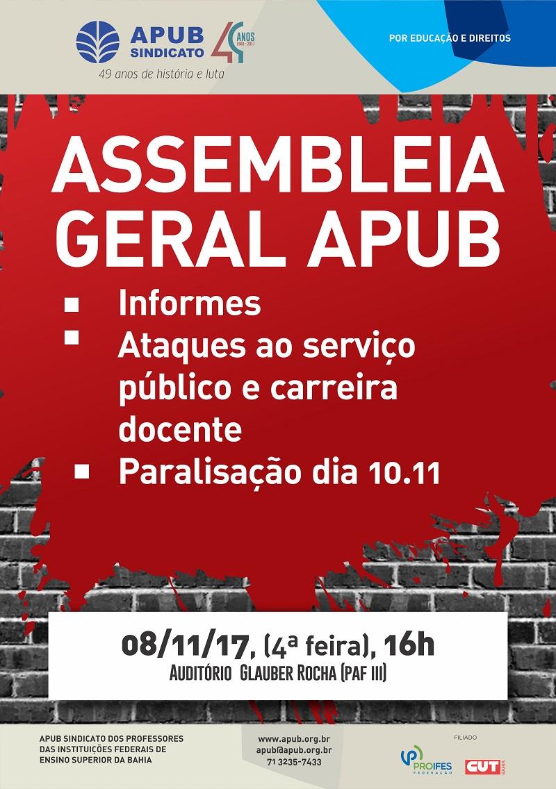 ASSEMBLEIA GERAL 11 DE NOVEMBRO DE 2017