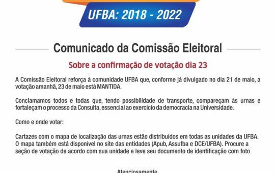 COMUNICADO COMISSAO ELEITORAL 5