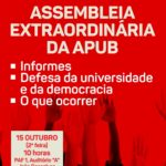 CARTAZ ASSEMBLEIA GERAL 15 DE OUTUBRO