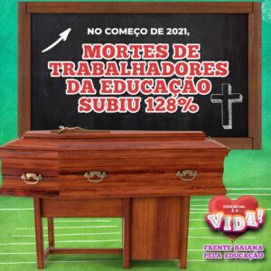Mortes do trabalhadores da educação subiram